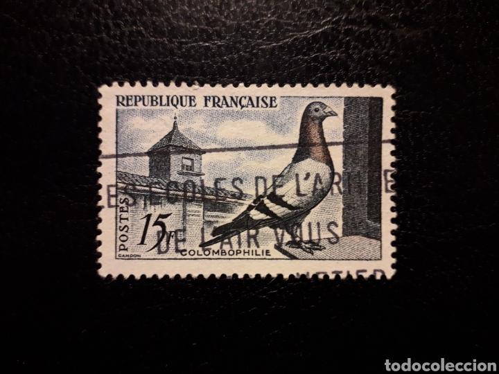 FRANCIA. YVERT 1091 SERIE COMPLETA USADA. COLOMBOFILIA. FAUNA. AVES. PALOMA. (Sellos - Extranjero - Europa - Francia)