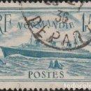 Sellos: FRANCIA 1934-36. PAQUEBOT NORMANDIE. IVERT #300 B, AZUL TURQUESA. *.MH.. Lote 158408674