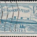 Sellos: FRANCIA 1934-36. PAQUEBOT NORMANDIE. IVERT # 299, AZUL . *.MH.. Lote 158408770