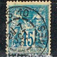 Sellos: FRANCIA, IVERT Nº 90, PAZ Y COMERCIO, USADO. Lote 235672675