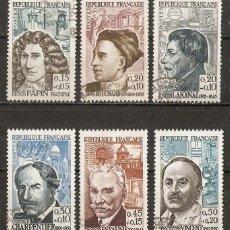 Sellos: FRANCIA. 1962. YT. 1345/1350. 23€. Lote 158453278