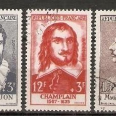 Sellos: FRANCIA.1956. YV. 1066,1067,1068,1070,1071. CAT 36€. Lote 158454194