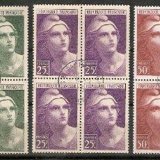 Sellos: FRANCIA.1945. YT 730,731,732. Lote 159768554