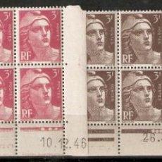Sellos: FRANCIA.1945-47. MARIANNE DE GANDON. COIN DATE. Lote 159788874
