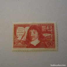 Sellos: FRANCIA 1937, YVERT Nº 341*, DESCARTES. FIJASELLOS. Lote 160301858