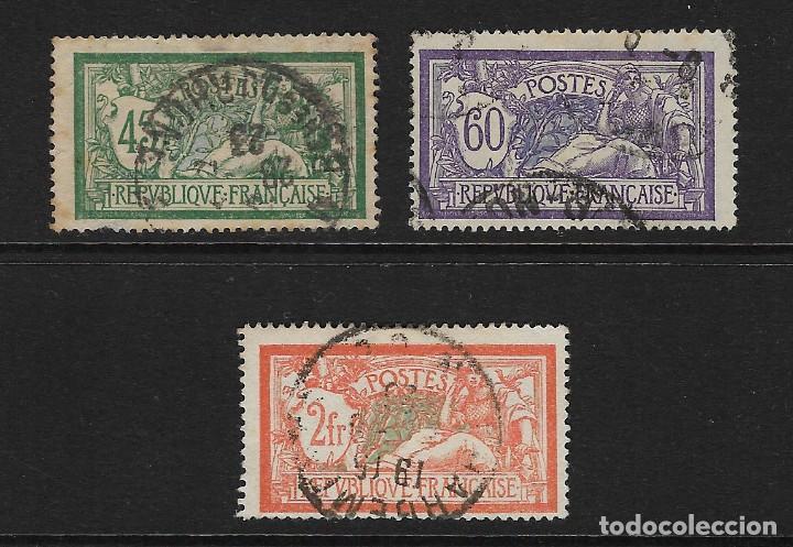 FRANCIA - CLASICOS. YVERT NSº 143/45 USADOS Y UN SELLO DEFECTUOSO (Sellos - Extranjero - Europa - Francia)