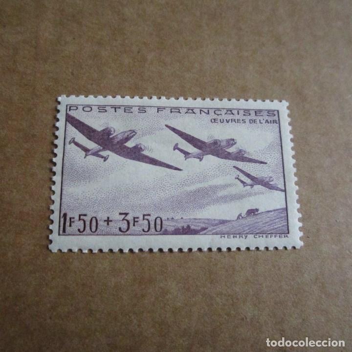 FRANCIA 1942, YVERT Nº 540*, PRO-AVIACION. FIJASELLOS (Sellos - Extranjero - Europa - Francia)