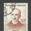Sellos: FRANCIA - 1959 - MICHEL 1267 - USADO. Lote 160981546