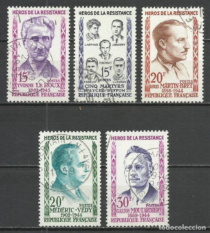 FRANCIA - 1959 - MICHEL 1242/1246 - USADO (Sellos - Extranjero - Europa - Francia)