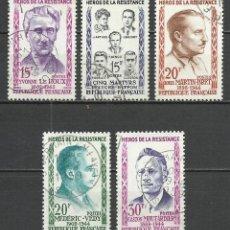 Sellos: FRANCIA - 1959 - MICHEL 1242/1246 - USADO. Lote 160982602