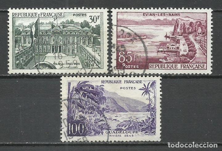 FRANCIA - 1959 - MICHEL 1232/1234 - USADO (Sellos - Extranjero - Europa - Francia)
