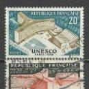 Sellos: FRANCIA - 1958 - MICHEL 1214/1215 - USADO. Lote 160983042