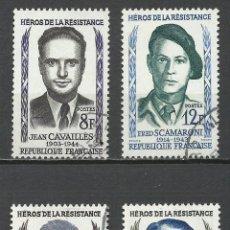 Sellos: FRANCIA - 1958 - MICHEL 1193/1196 - USADO. Lote 160983158
