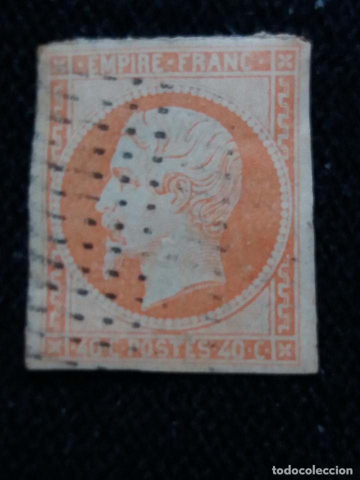SELLO FRANCES, NAPOLEON III, 40 CENTS, AÑO 1870, SIN DENTAR. (Sellos - Extranjero - Europa - Francia)