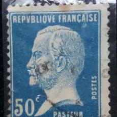 Sellos: SELLO, REPUBLICA FRANCESA, PASTEUR, 50 CENTS, AÑO 1923,. Lote 163607762