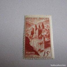 Sellos: FRANCIA 1947, YVERT Nº 792*, ABADIA DE CONQUES. FIJASELLOS. Lote 164927918