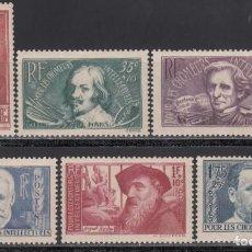 Sellos: FRANCIA, 1938 YVERT Nº 380 / 385 /*/ . Lote 165543954