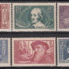 Sellos: FRANCIA, 1938 YVERT Nº 380 / 385 /*/ . Lote 165544030