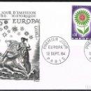 Sellos: [CF6009B] FRANCIA 1964, FDC SERIE EUROPA (NS). Lote 165566954