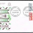 Sellos: [CF6026A] FRANCIA 1965, FDC SERIE EUROPA (NS). Lote 165568602