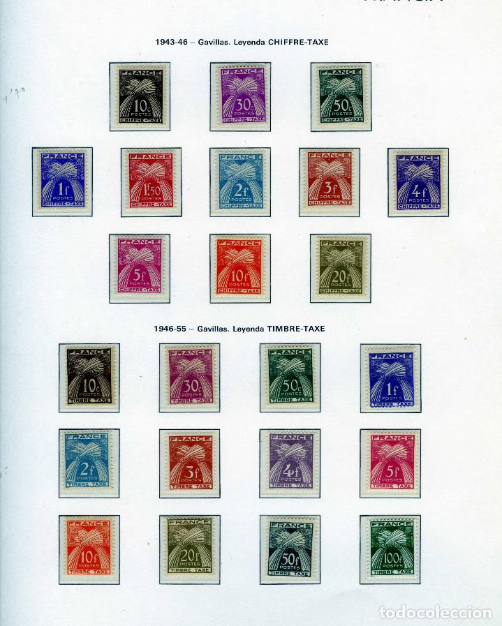 SELLOS FRANCIA AÑOS1943-1946 (11 VALORES)Y1946-1956(12 VALORES)-IVERT Nº 67/89-LEYENDA TIMBRE-TAXE . (Sellos - Extranjero - Europa - Francia)