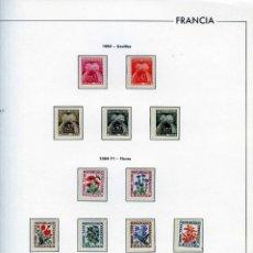 Sellos: SELLOS DE FRANCIA AÑO1960(5VALORES)Y1964-71(8VALORES)-Nº IVERT 90/102-LEYENDA TIMBRE-TAXE Y FLORES .. Lote 166045534