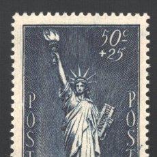 Sellos: FRANCIA 1937 YVERT 352, POR LO REFUGIADOS POLÍTICOS, ESTATUA DE LA LIBERTAD - NUEVO **. Lote 228239095