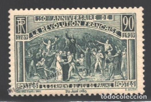 FRANCIA 1939 YVERT 444, 150º ANIV. DE LA REVOLUCIÓN FRANCESA - NUEVO ** (Sellos - Extranjero - Europa - Francia)