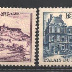 Sellos: FRANCIA 1946 YVERT 759-60, MONUMENTOS Y LUGARES, VÉZELAY Y PALACIO LUXEMBURGO - NUEVO **. Lote 166409652
