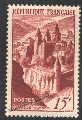 FRANCIA 1947 YVERT 792, ABADÍA DE CONQUES - NUEVO ** (Sellos - Extranjero - Europa - Francia)