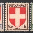 Sellos: FRANCIA 1949 YVERT 834-38, ESCUDOS DE ARMAS DE PROVINCIAS - NUEVO **. Lote 166411552
