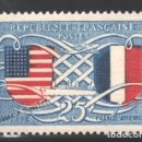 Sellos: FRANCIA 1949 YVERT 840, AMISTAD FRANCO AMERICANA - NUEVO **. Lote 166411629