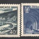 Sellos: FRANCIA 1949 YVERT 841A-43, PAISAJES Y MONUMENTOS - NUEVO **. Lote 166411708