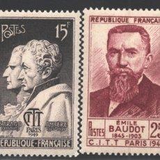 Sellos: FRANCIA 1949 YVERT 844-47, CONGRESO INTERNACIONAL DE TELEGRAFÍA Y TELÉFONOS - NUEVO **. Lote 166411804