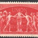 Sellos: FRANCIA 1949 YVERT 850-52, 75º ANIV. UPU, UNIÓN POSTAL UNIVERSAL - NUEVO **. Lote 166411998
