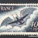 Sellos: FRANCIA 1948 YVERT CORREO AÉREO 23, 50º ANIV. PRIMER VUELO DE ADER - NUEVO **. Lote 166412538
