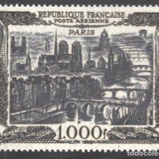 Sellos: FRANCIA 1950 YVERT CORREO AÉREO 29, VISTA DE PARIS - NUEVO **. Lote 166412648