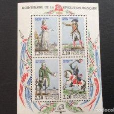 Sellos: FRANCIA Nº YVERT HB 10*** AÑO 1989. PERSONAJES CELEBRES DE LA REVOLUCION. Lote 166459130
