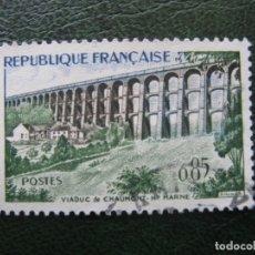 Sellos: FRANCIA, 1960* VIADUCTO DE CHAUMONT, YVERT 1240. Lote 167008684