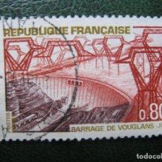 Sellos: FRANCIA, 1969* EMBALSEDE VOUGLANS, YVERT 1583. Lote 167052544