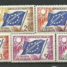 Timbres: FRANCIA SELLO NUEVO CONSEIL DE EUROPA 1958 * SERIE COMPLETA. Lote 167497180