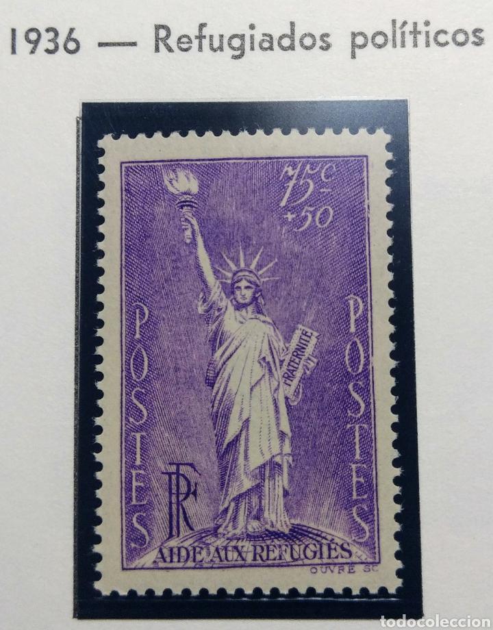 FRANCIA 1936. REFUGIADOS POLÍTICOS.YVERT 309**. (Sellos - Extranjero - Europa - Francia)