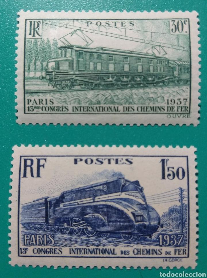 FRANCIA 1937. FERROCARRILES. YVERT 339/340**. (Sellos - Extranjero - Europa - Francia)