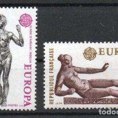 Sellos: FRANCIA AÑO 1974 YV 1789/90*** EUROPA - ESCULTURA - ARTE. Lote 168633672