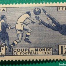 Sellos: FRANCIA 1938. MUNDIAL DE FÚTBOL. YVERT 396**.. Lote 168638841