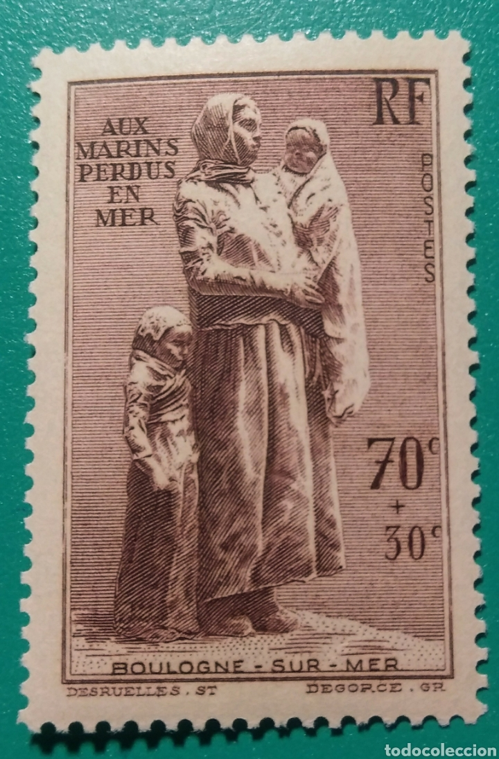 FRANCIA 1939. MONUM. MARINOS DESAPAREC. YVERT 447**. (Sellos - Extranjero - Europa - Francia)