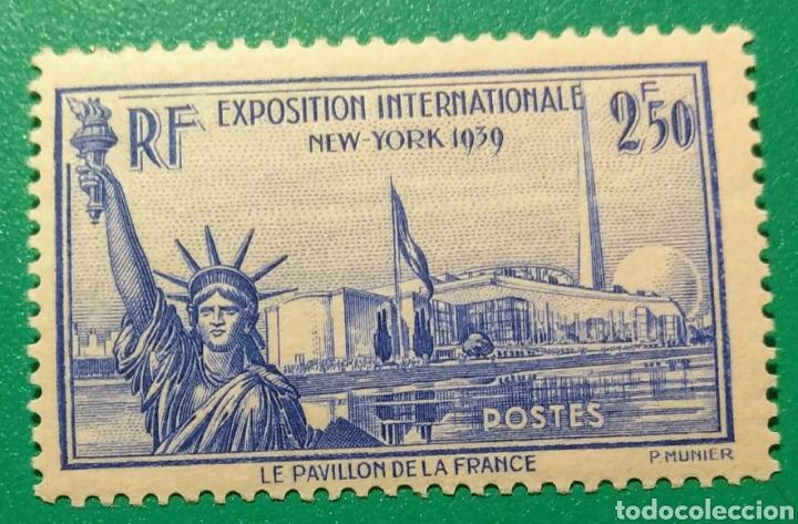 FRANCIA 1940. EXPOS. INT. NUEVA YORK. YVERT 458**. (Sellos - Extranjero - Europa - Francia)