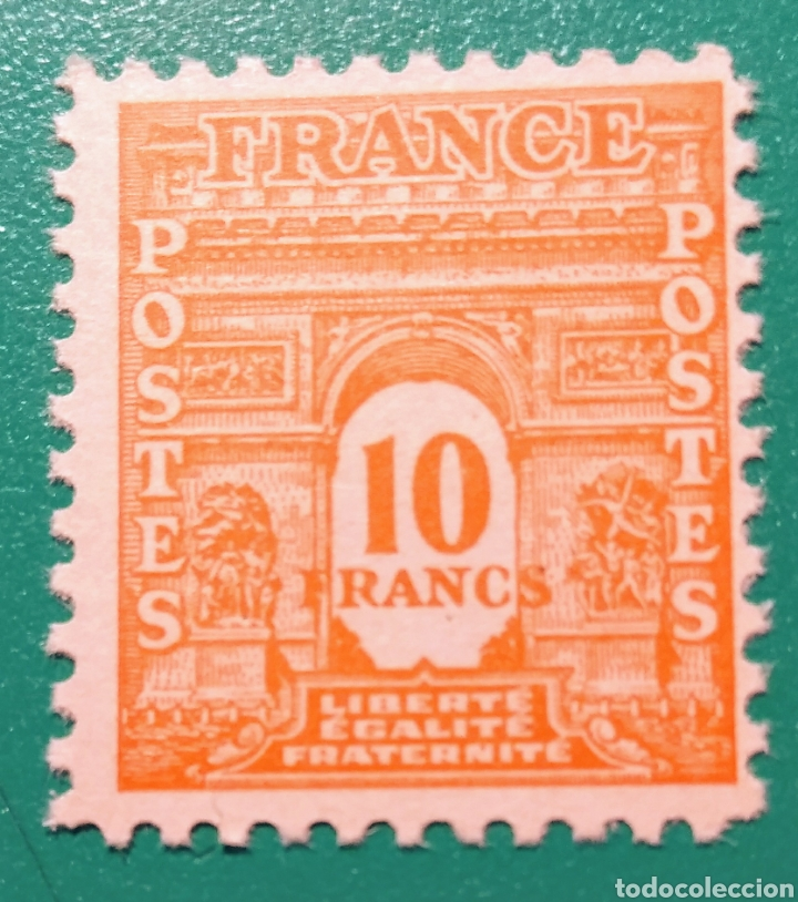 FRANCIA 1944. ARCO DEL TRIUNFO. YVERT 629**. (Sellos - Extranjero - Europa - Francia)