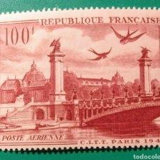 Sellos: FRANCIA 1949. CONG. INT. TELÉGRAFOS. YVERT AÉREO 28**.. Lote 168871773