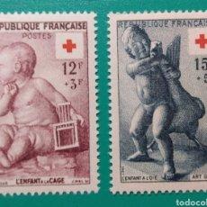Sellos: FRANCIA 1955. CRUZ ROJA. YVERT 1048/1049**.. Lote 169051893